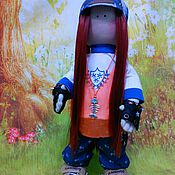 Куклы и игрушки ручной работы. Ярмарка Мастеров - ручная работа Текстильная кукла Тинейджер. Handmade.