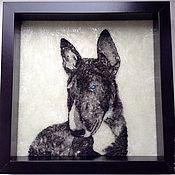 """Картины и панно ручной работы. Ярмарка Мастеров - ручная работа Панно """"Собака"""". Handmade."""