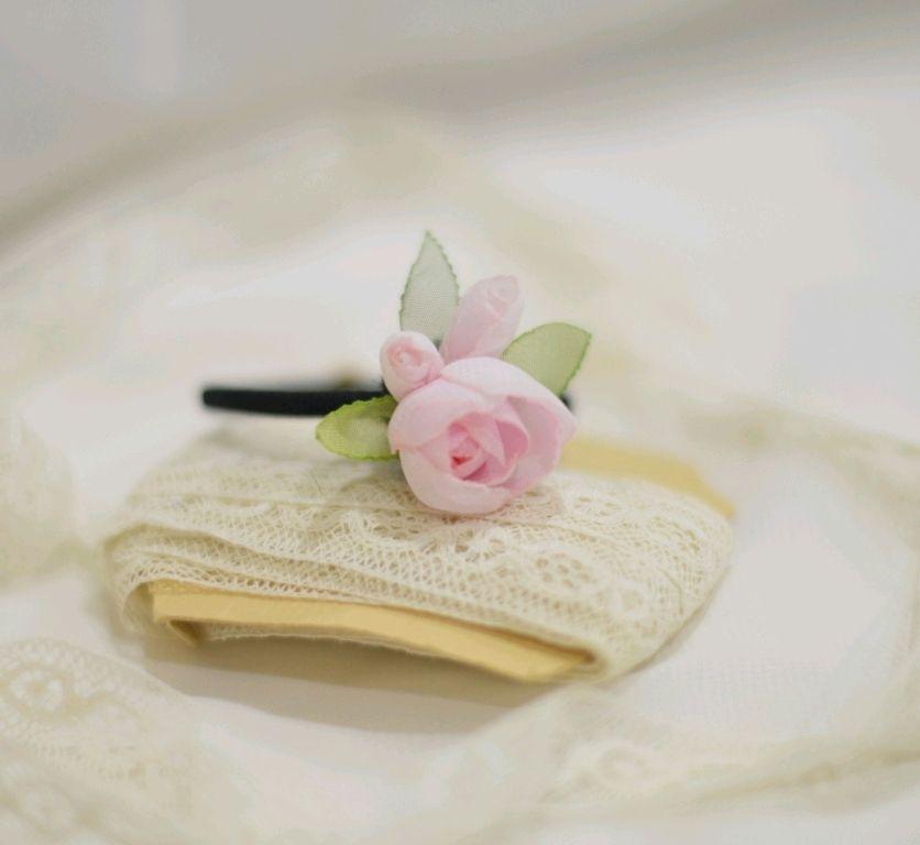 """Заколки ручной работы. Ярмарка Мастеров - ручная работа. Купить """"Розовый зефир"""" - резиночка для волос / малая. Handmade. Свадьба"""