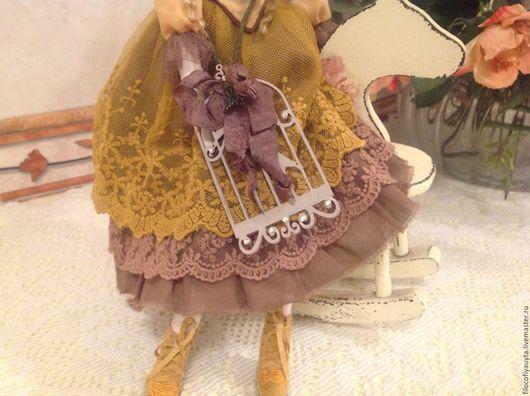 Куклы Тильды ручной работы. Ярмарка Мастеров - ручная работа. Купить Летиция Кукла текстильная в стиле Тильда. Handmade. Коричневый