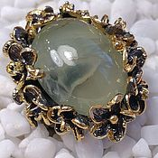Украшения handmade. Livemaster - original item silver ring with prehnite. Handmade.
