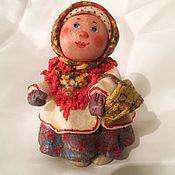 Народная кукла ручной работы. Ярмарка Мастеров - ручная работа За грибами. Handmade.