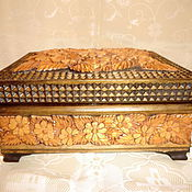Для дома и интерьера handmade. Livemaster - original item Wooden box of Chamomile the Art of carving. Handmade.