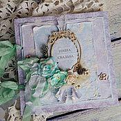 Свадебный салон ручной работы. Ярмарка Мастеров - ручная работа Свадебная книга пожеланий - зимняя. Handmade.