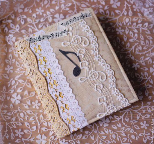 Блокноты ручной работы. Ярмарка Мастеров - ручная работа. Купить Бабушкина музыкальная шкатулка. Handmade. Бежевый, подарок учителю, картон