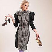 Платья ручной работы. Ярмарка Мастеров - ручная работа Теплое платье в офис. Handmade.