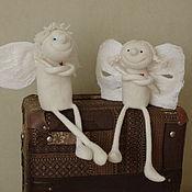 """Куклы и игрушки ручной работы. Ярмарка Мастеров - ручная работа Ангелы, мальчик и девочка """"Сердечные"""" из шерсти. Handmade."""
