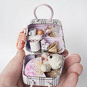 Куклы и игрушки ручной работы. Ярмарка Мастеров - ручная работа Сумочка-домик для мишки. Handmade.