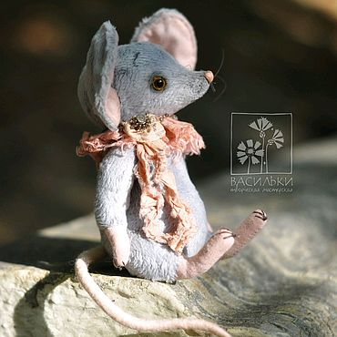 Куклы и игрушки ручной работы. Ярмарка Мастеров - ручная работа Мышка-тедди Ло. Handmade.