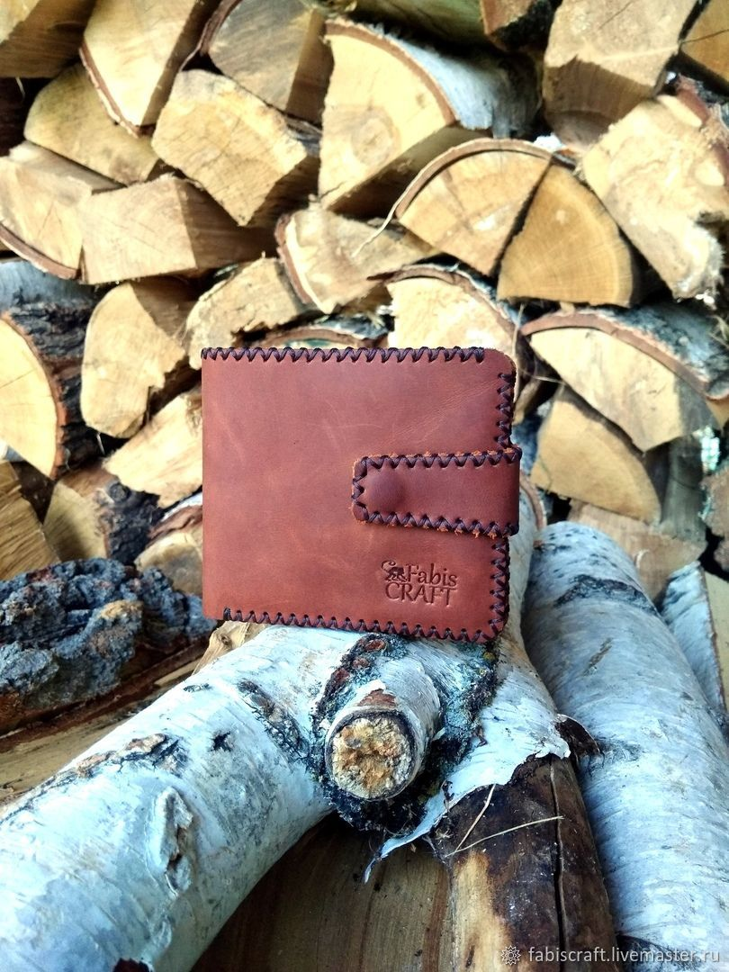 Purse handmade of genuine leather, Wallets, Moscow,  Фото №1