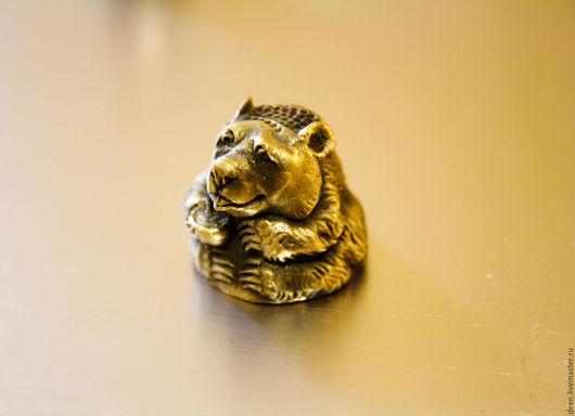 """Колокольчики ручной работы. Ярмарка Мастеров - ручная работа. Купить Наперсток """"Мишка"""". Handmade. Золотой, наперсток декоративный, бронза авторская"""