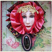 Украшения ручной работы. Ярмарка Мастеров - ручная работа Брошь винтаж с фарфоровой головой   Защита. Handmade.