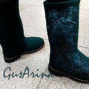 """Обувь ручной работы. Ярмарка Мастеров - ручная работа Валенки сапожки  """"Зимнее море"""". Handmade."""