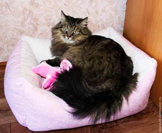 """Аксессуары для кошек, ручной работы. Ярмарка Мастеров - ручная работа. Купить Лежанка для кошечки или собачки """"Розовый рай для Маргоши"""". Handmade."""