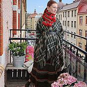 Пончо ручной работы. Ярмарка Мастеров - ручная работа Бохо-комплект «На парижском балконе». Пончо, юбка, шарф. Handmade.