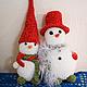Коллекционные куклы ручной работы. Ярмарка Мастеров - ручная работа. Купить Снеговик. Handmade. Снеговик, сувенир, украшение на елку