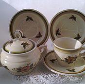 Винтаж handmade. Livemaster - original item konakovo. Coffee set. painting.. Handmade.