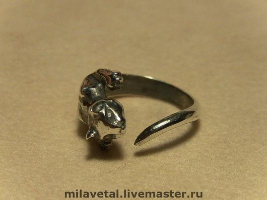 """Кольца ручной работы. Ярмарка Мастеров - ручная работа. Купить Кольцо""""кошка"""". Handmade. Кольцо, кошка, серебряный, кошечка, серебро"""