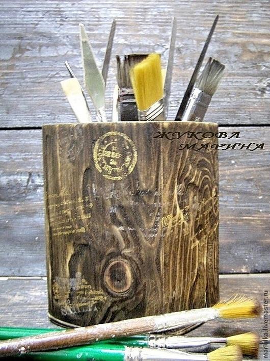 """Мебель ручной работы. Ярмарка Мастеров - ручная работа. Купить Подставка """"Брутально-рустикальная:)"""". Handmade. Подставка, для мастеров, брашировка, дерево"""