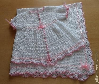 """Одежда для девочек, ручной работы. Ярмарка Мастеров - ручная работа. Купить Платьице """"Нежнее нежного"""". Handmade. Белый, для новорожденной"""