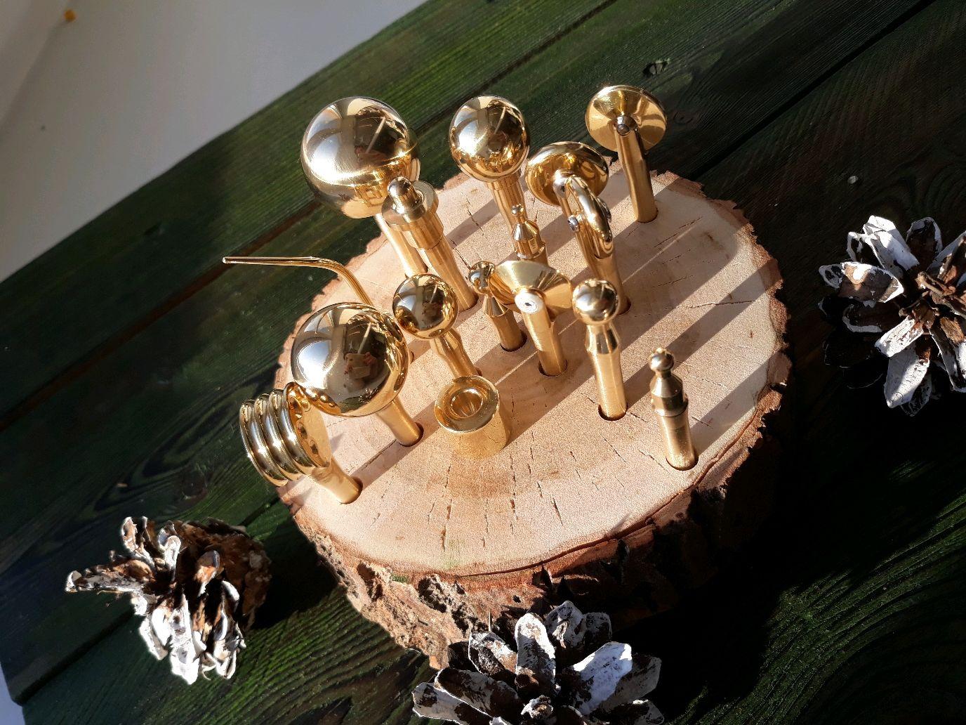 Подставка для булек, кисточек, карандашей, канцтоваров (спил дерева), Настольные органайзеры, Ижевск,  Фото №1
