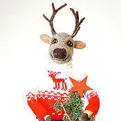 Сувениры и подарки handmade. Livemaster - original item Deer Christmas. Handmade.