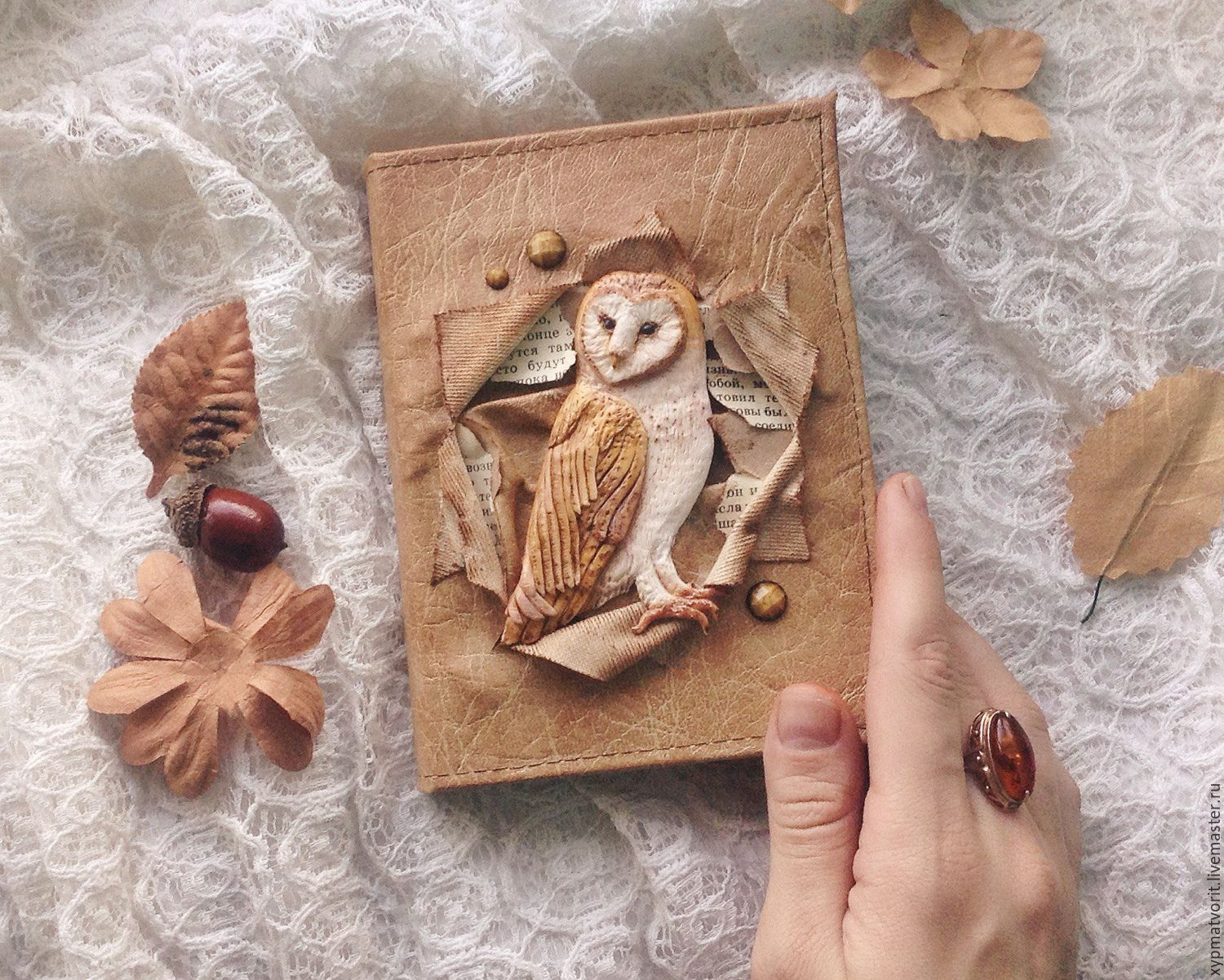 A notebook with a barn owl, Notebooks, Novosibirsk,  Фото №1