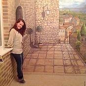 Дизайн и реклама ручной работы. Ярмарка Мастеров - ручная работа роспись стен на балконе. Handmade.