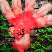 Мягкие игрушки ручной работы. Ярмарка Мастеров - ручная работа Мифическая лиса Кицунэ. Handmade.