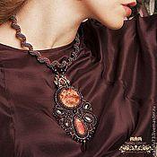 Украшения handmade. Livemaster - original item pendant Bordeaux ( 3 options!). Handmade.
