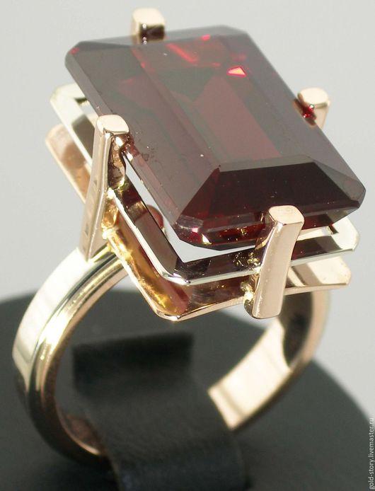 Кольца ручной работы. Ярмарка Мастеров - ручная работа. Купить Золотое кольцо с синтетическим рубином. Handmade. Кольцо с одним камнем