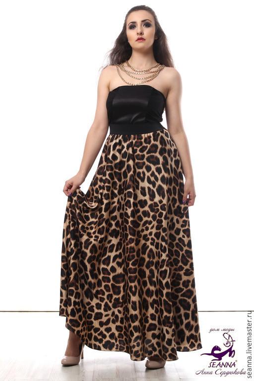 """Юбки ручной работы. Ярмарка Мастеров - ручная работа. Купить Роскошная леопардовая юбка """"Хищница"""" на широкой резинке. Handmade."""
