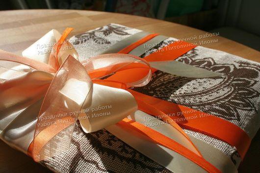 """Подарочная упаковка ручной работы. Ярмарка Мастеров - ручная работа. Купить """"Linen weave"""" - упаковка подарка. Handmade. Упаковка подарка"""