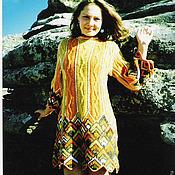 Одежда ручной работы. Ярмарка Мастеров - ручная работа Платье в лоскутной технике. Handmade.