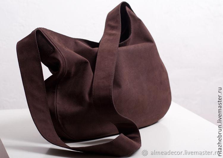 Купить Кожаная сумка-мешок · Женские сумки ручной работы. Кожаная сумка-мешок.  Almea. Интернет-магазин Ярмарка ... 12b2bb2ac52