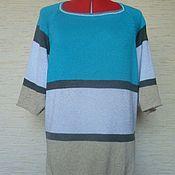 Одежда ручной работы. Ярмарка Мастеров - ручная работа Летний джемпер в полоску. Handmade.