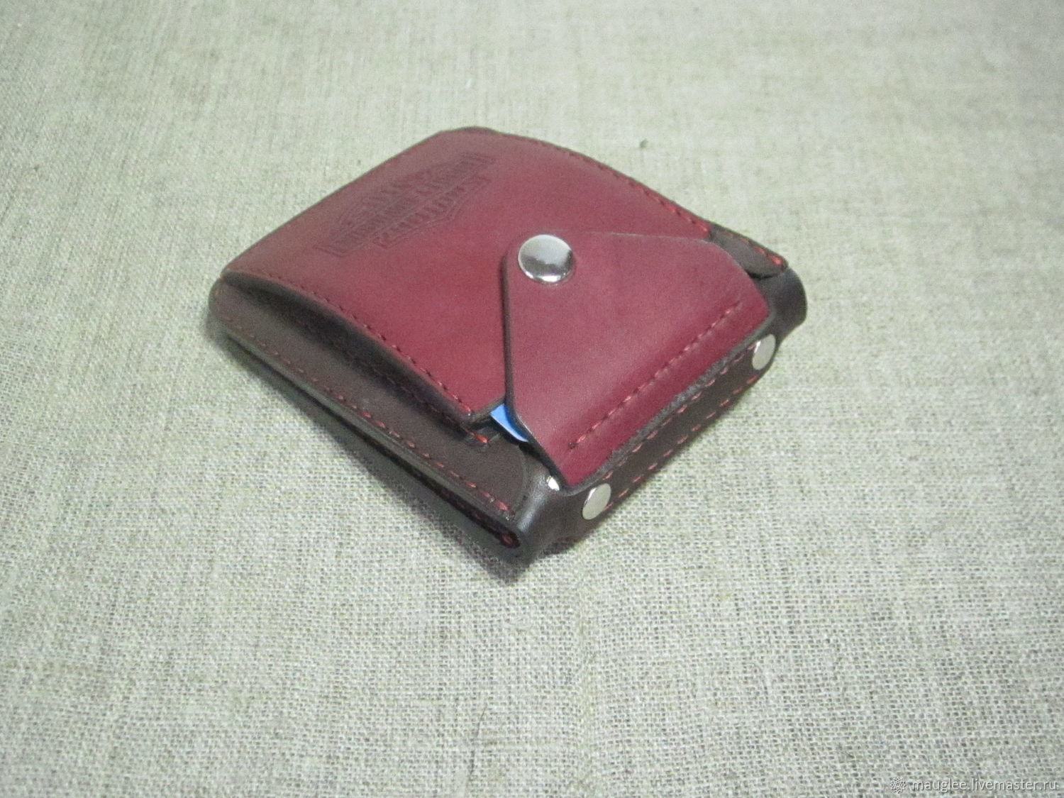 Harley Davidson Red-Brown. Purse – shop online on Livemaster with ...