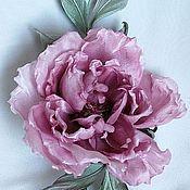 Цветы и флористика handmade. Livemaster - original item Silk flowers. Flower-rose brooch