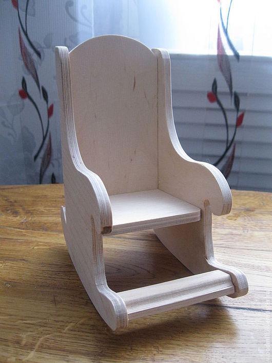 Кукольный дом ручной работы. Ярмарка Мастеров - ручная работа. Купить Кресло-качалка для кукол и игрушек. Handmade. Бежевый