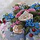 """Персональные подарки ручной работы. Ярмарка Мастеров - ручная работа. Купить Игольница """"Цветы лета"""". Handmade. Вышивка лентами, разноцветный"""
