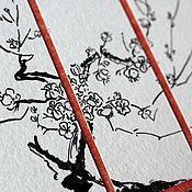 Открытки ручной работы. Ярмарка Мастеров - ручная работа открытка в японском стиле. Handmade.