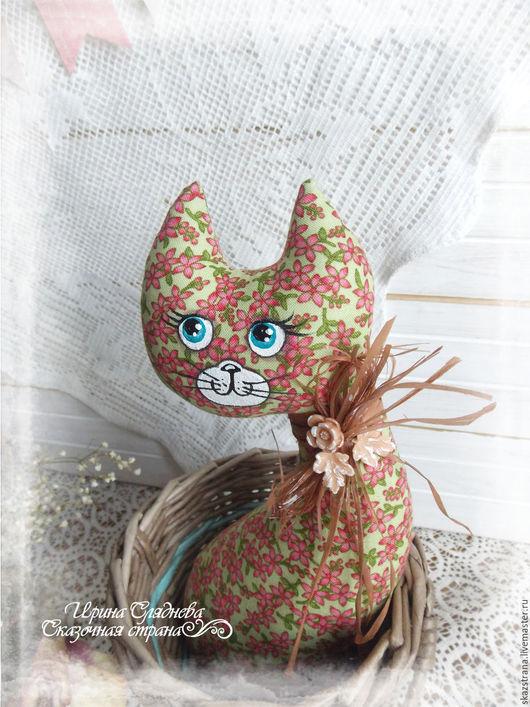 Кухня ручной работы. Ярмарка Мастеров - ручная работа. Купить Кошка в лукошке (в ассортименте). Handmade. Зеленый, набор для кухни