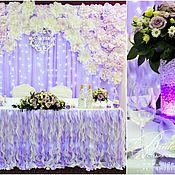 Свадебный салон ручной работы. Ярмарка Мастеров - ручная работа Фиолетовая свадьба с бумажными цветами и бабочками в декоре. Handmade.