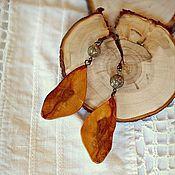 """Украшения ручной работы. Ярмарка Мастеров - ручная работа Серьги """"Осенние листья"""". Handmade."""