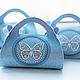 """Подарочная упаковка ручной работы. Ярмарка Мастеров - ручная работа. Купить """"Ажурная бабочка"""" упаковка. Handmade. Коробочка, голубой"""