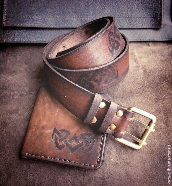 Мужской портмоне кожаный-купить на пояс,ремень купить ремень мужской p
