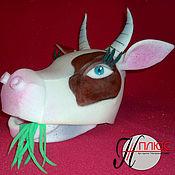 """Работы для детей, ручной работы. Ярмарка Мастеров - ручная работа шапка из поролона """"Корова"""". Handmade."""