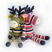 Куклы и игрушки handmade. Livemaster - original item Pink-gray Elk. Green Elk.. Handmade.