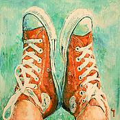 Картины и панно ручной работы. Ярмарка Мастеров - ручная работа Летний бездельник.. Handmade.