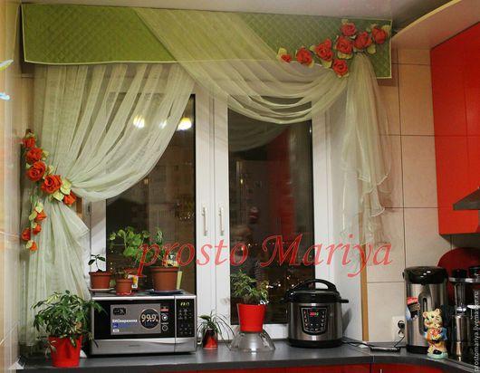 Текстиль, ковры ручной работы. Ярмарка Мастеров - ручная работа. Купить И расцветают розы............... Handmade. Зеленый, портьерная ткань